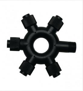 Conector electric cu 5 iesiri din plastic Chrissline Black Ring Markslojd