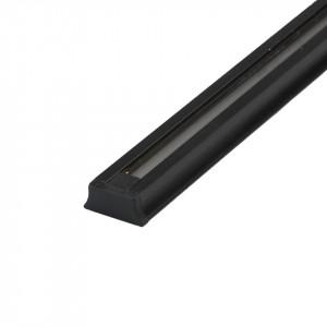 Conector electric negru din aluminiu si plastic Track Techno MW Glasberg