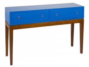 Consola din lemn mindi si placaj 120 cm Bleu Santiago Pons
