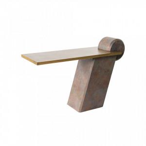 Consola maro/aurie din beton armat cu fibra de sticla 137 cm Fleek Versmissen