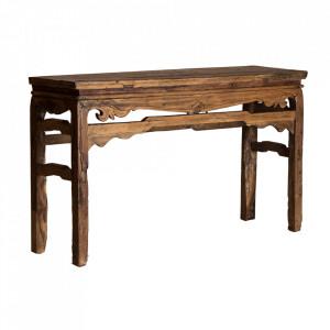 Consola maro din lemn 137 cm Pabadariya Vical Home