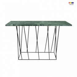 Consola verde/neagra din marmura si metal 120 cm Helix TemaHome