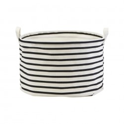 Cos alb din bumbac 40x25 cm Stripes House Doctor