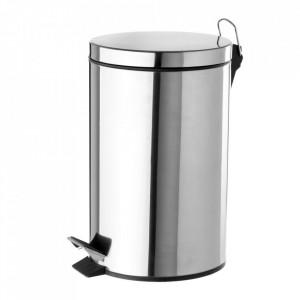 Cos de gunoi argintiu din inox 12 L Ella Unimasa