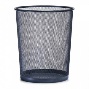 Cos de gunoi gri din metal 29,5x35 cm pentru birou Mesh Paper Trash Big Anthracite Zeller