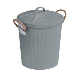Cos de gunoi gri din otel 6 L Gara Wenko
