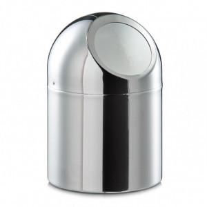 Cos de gunoi pentru birou argintiu din inox 12x16 cm Cory Zeller