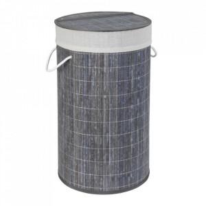 Cos de rufe gri din bambus si in 55 L Lona Wenko