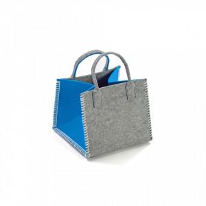 Cos gri/turcoaz din textil Turquoise Basket Versa Home