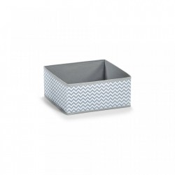 Cos pliabil alb/gri din fleece Storage Box White Zeller