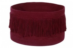 Cos rosu bordo din bumbac Fringes Savannah Red Lorena Canals