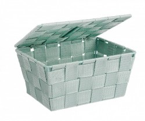 Cos verde cu capac 19x14x10 cm Adria Mint Wenko