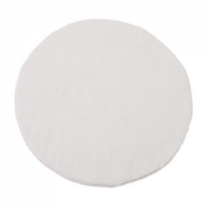 Covor alb din poliester 80 cm Lindsey Unimasa