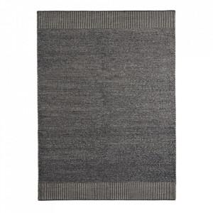Covor alb/gri din lana si iuta 170x240 cm Rombo Woud