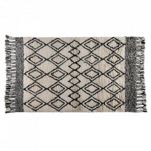 Covor alb/negru din lana 160x230 cm Lozi Zago