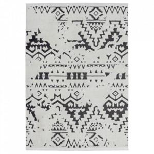 Covor alb/negru din polipropilena Agadir 110 Kayoom (diverse dimensiuni)