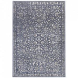 Covor albastru/argintiu din bumbac si viscoza 160x230 cm Mahal The Home