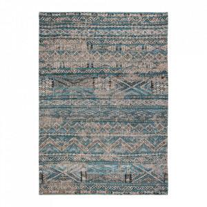 Covor albastru din bumbac si lana Antiquarian Zemmuri Blue Louis de Poortere (diverse dimensiuni)