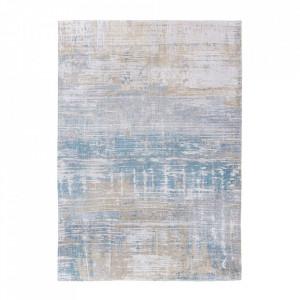 Covor albastru din bumbac si poliester Atlantic's Long Island Blu Louis de Poortere (diverse dimensiuni)
