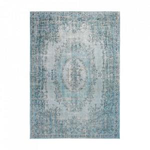 Covor albastru din bumbac si poliester Palazzo Dandolo Blue Louis de Poortere (diverse dimensiuni)