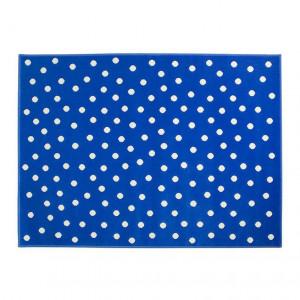Covor albastru din fibre acrilice 120x160 cm Dots Lorena Canals