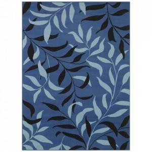 Covor albastru din polipropilena Floral The Home (diverse dimensiuni)
