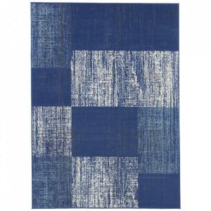 Covor albastru din polipropilena Patchwork Design The Home (diverse dimensiuni)