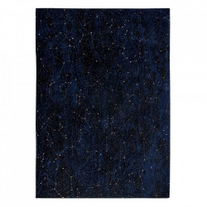 Covor albastru/negru din bumbac si poliester Celestial Midnight Blue Louis de Poortere (diverse dimensiuni)
