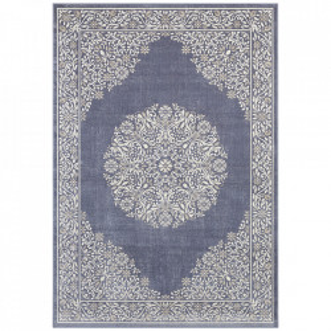 Covor argintiu/albastru din bumbac si viscoza 160x230 cm Floral Orient The Home