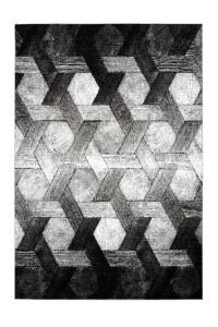 Covor argintiu din polipropilena Swing Design Lalee (diverse dimensiuni)