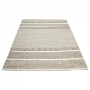 Covor crem/gri din lana 140x200 cm Tegan Bolia