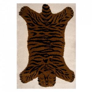 Covor crem/maro din polipropilena 120x170 cm Vini Tiger Lewis Zala Living