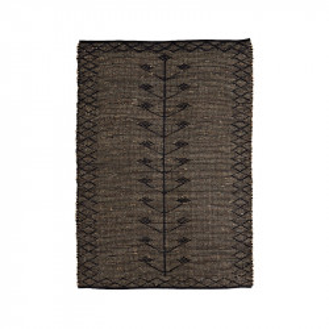 Covor crem/negru din bumbac si iarba de mare 120x180 cm Timo Madam Stoltz