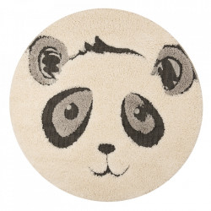 Covor crem/negru din polipropilena 120 cm Vini Panda Pierre Zala Living