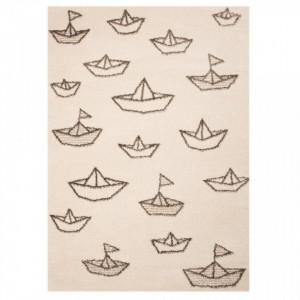 Covor crem pentru copii 170x120 cm Paper Boat Sammy Zala Living