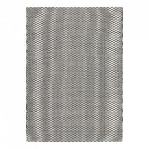 Covor din lana si viscoza Rythm Black White Ligne Pure (diverse dimensiuni)
