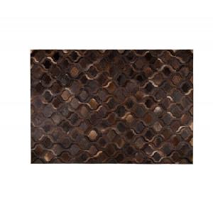 Covor din piele maro 240x170 cm Bawang Dark Brown Dutchbone