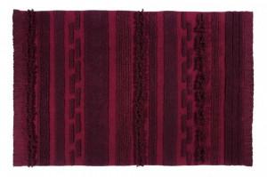 Covor dreptunghiular rosu din bumbac 140x200 cm Air Savannah Red Lorena Canals