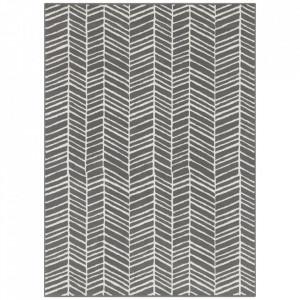 Covor gri din polipropilena Line Pattern The Home (diverse dimensiuni)