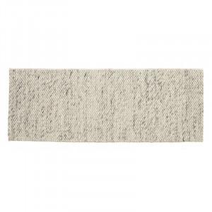Covor gri/ivoriu din lana 75x200 cm Lara Nordal
