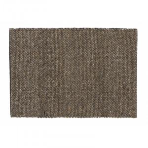 Covor gri/maro din lana si poliester 60x90 cm Fia Nordal