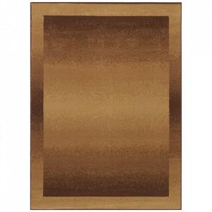 Covor maro din polipropilena Retro Light Brown Pattern The Home (diverse dimensiuni)