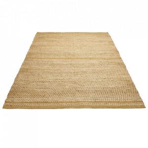 Covor maro/ocru din iuta si lana 140x200 cm Conwy Bolia