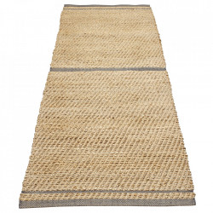 Covor maro/verde din iuta si lana 70x140 cm Conwy Bolia