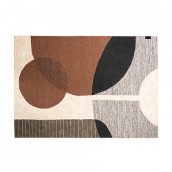 Covor multicolor din bumbac si poliester 170x240 cm Hudson LifeStyle Home Collection