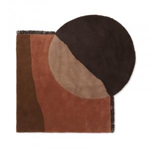 Covor multicolor din lana 140x180 cm Vera Ali Ferm Living