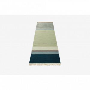 Covor multicolor din lana 250x80 cm Twine Petrol Mix Bolia