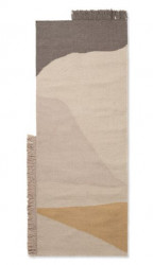 Covor multicolor din lana si bumbac 70x180 cm Kelim Earth Ferm Living
