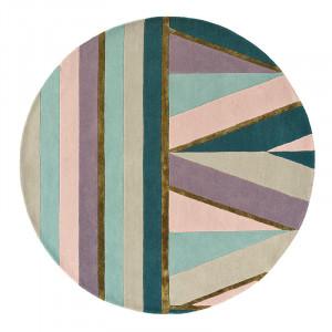 Covor multicolor din lana TB Sahara-Pink Round Brink & Campman (diverse dimensiuni)