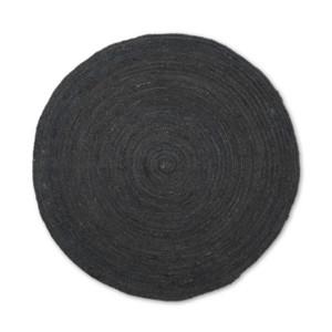 Covor negru din iuta 120 cm Eternal Ferm Living